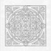 Coloriage de Mandala N°15 - Coloriage - Coloriage MANDALA