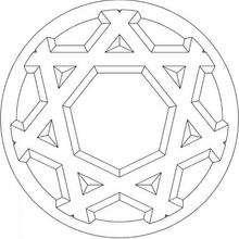 Mandala : Flocon de neige