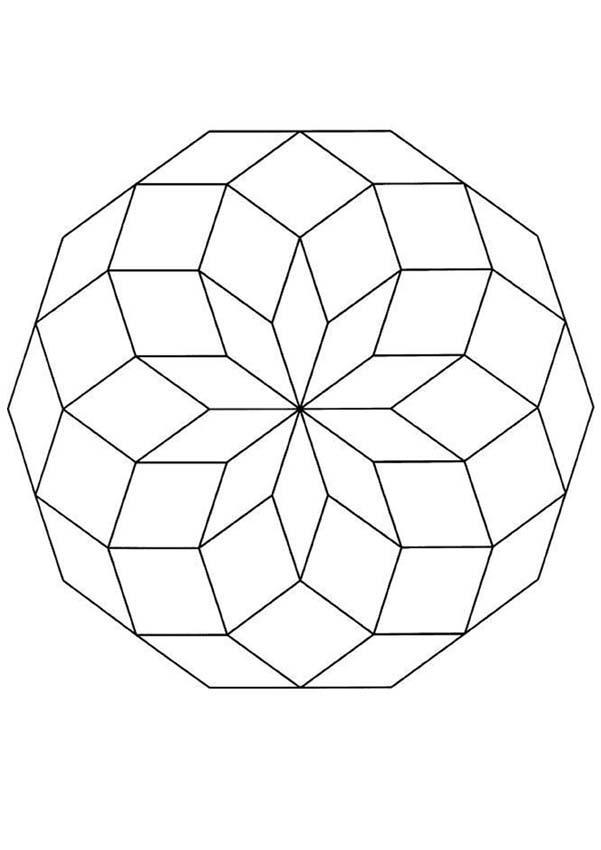 Coloriage de Mandala N°20