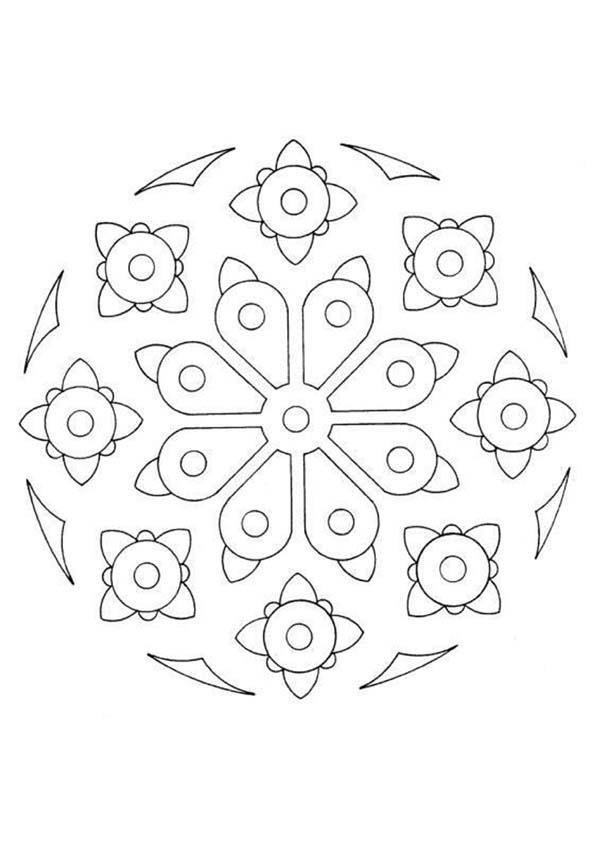 Coloriage de Mandala N°35