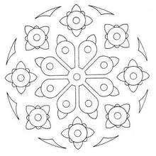 Coloriage de Mandala N°35 - Coloriage - Coloriage MANDALA
