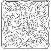 Coloriage de Mandala N°42 - Coloriage - Coloriage MANDALA