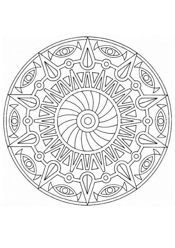 Coloriage de Mandala N°47