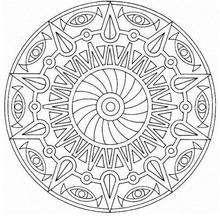 Coloriage de Mandala N°47 - Coloriage - Coloriage MANDALA