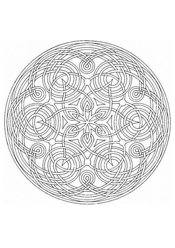 Coloriage Mandala Coloriage De Mandala N 63