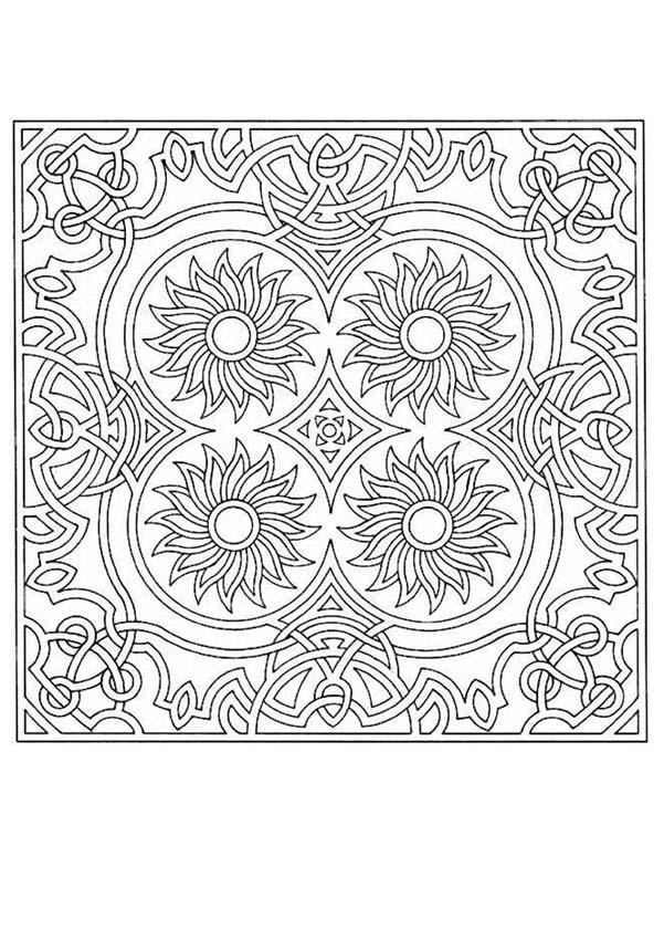 Coloriage de Mandala N°72