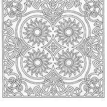 Coloriage de Mandala N°72 - Coloriage - Coloriage MANDALA