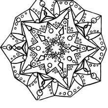 Coloriage de Mandala N°75 - Coloriage - Coloriage MANDALA