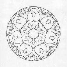 Coloriage de Mandala N°77 - Coloriage - Coloriage MANDALA