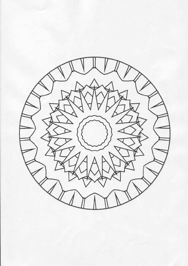 Coloriage de Mandala N°78