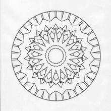 Coloriage de Mandala N°78 - Coloriage - Coloriage MANDALA