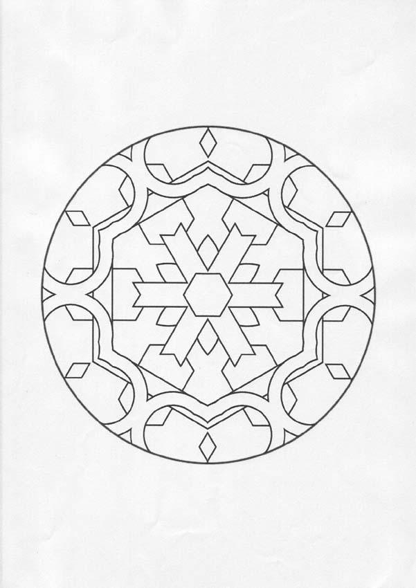 Coloriage de Mandala N°89