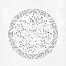 Coloriage de Mandala N°90