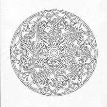 Coloriage de Mandala N°96