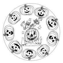 Coloriage de Mandala pour Halloween - Coloriage - Coloriage MANDALA - MANDALAS Halloween