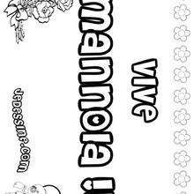 Mannola - Coloriage - Coloriage PRENOMS - Coloriage PRENOMS LETTRE M