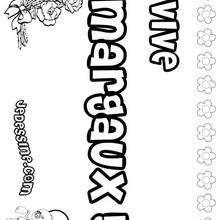 Margaux - Coloriage - Coloriage PRENOMS - Coloriage PRENOMS LETTRE M