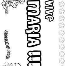 Maria - Coloriage - Coloriage PRENOMS - Coloriage PRENOMS LETTRE M