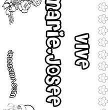 Marie-Josée - Coloriage - Coloriage PRENOMS - Coloriage PRENOMS LETTRE M