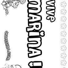 Marina - Coloriage - Coloriage PRENOMS - Coloriage PRENOMS LETTRE M