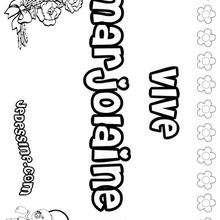 Marjolaine - Coloriage - Coloriage PRENOMS - Coloriage PRENOMS LETTRE M