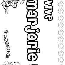 Coloriages morgane - Prenom marjorie ...