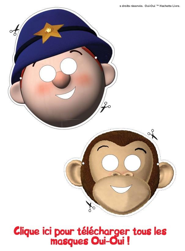 Masques Oui-Oui - Activités - Bricolage - Activités Oui-Oui
