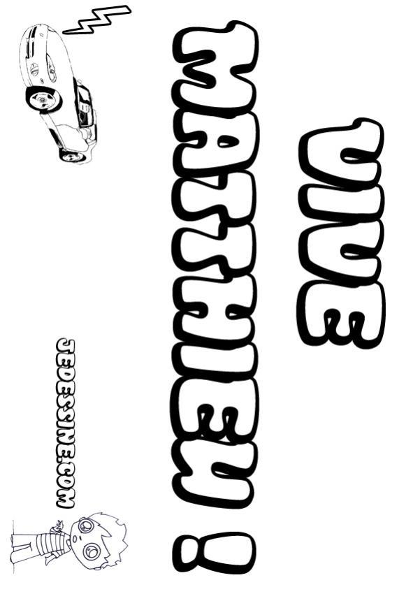 Coloriages matthieu - Coloriage prenom tag ...