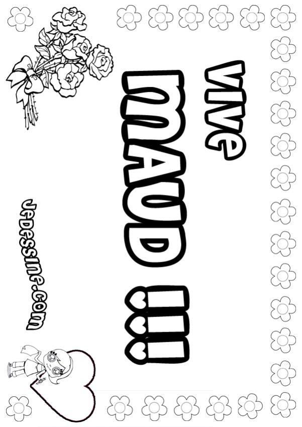 Coloriage : Maud