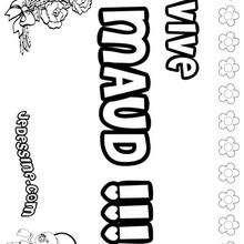 Maud - Coloriage - Coloriage PRENOMS - Coloriage PRENOMS LETTRE M