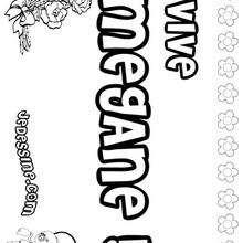 Megane - Coloriage - Coloriage PRENOMS - Coloriage PRENOMS LETTRE M