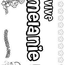 Melanie - Coloriage - Coloriage PRENOMS - Coloriage PRENOMS LETTRE M