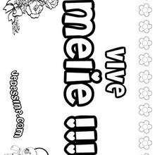 Melie - Coloriage - Coloriage PRENOMS - Coloriage PRENOMS LETTRE M