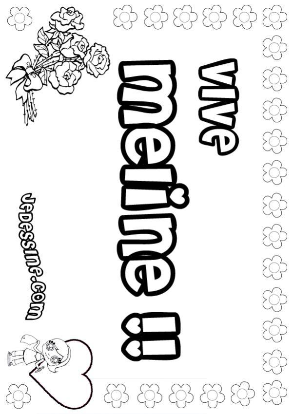 Coloriage prenoms lettre m meline - Princesse meline ...