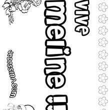 Meline - Coloriage - Coloriage PRENOMS - Coloriage PRENOMS LETTRE M