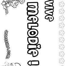 Melodie - Coloriage - Coloriage PRENOMS - Coloriage PRENOMS LETTRE M