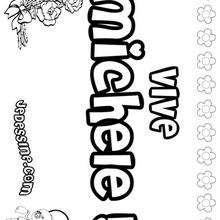 Michele - Coloriage - Coloriage PRENOMS - Coloriage PRENOMS LETTRE M