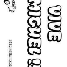 Miguel - Coloriage - Coloriage PRENOMS - Coloriage PRENOMS LETTRE M