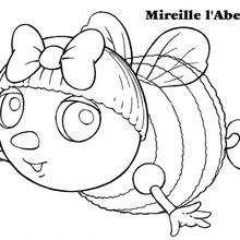 Coloriage Mireille l'Abeille