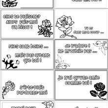 Modèles de cartes pour offrir avec un bouquet