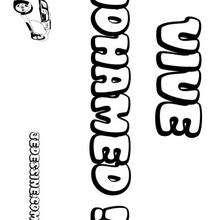 Mohamed - Coloriage - Coloriage PRENOMS - Coloriage PRENOMS LETTRE M
