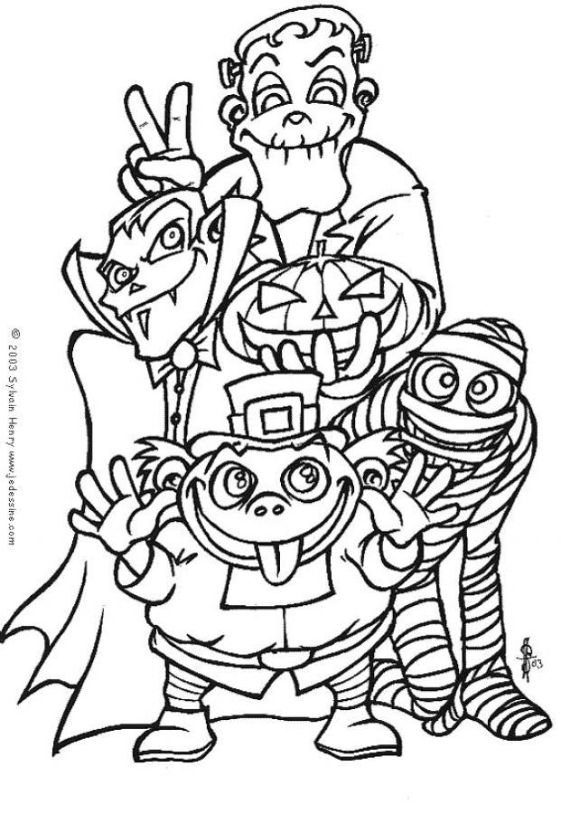 Coloriage monstre halloween coloriage de monstres d - Dessin monstre halloween ...