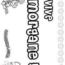 Morgane - Coloriage - Coloriage PRENOMS - Coloriage PRENOMS LETTRE M