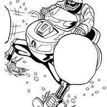 Coloriage de la moto des neiges