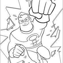 Coloriage Disney : Coloriage de Mr indestructible