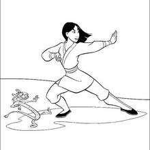 Coloriage Disney : Coloriage gratuit Mulan