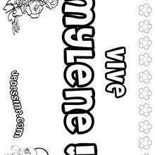 Mylene - Coloriage - Coloriage PRENOMS - Coloriage PRENOMS LETTRE M