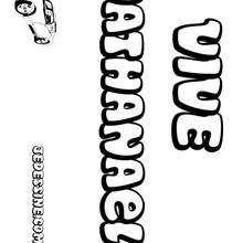 Nathanael - Coloriage - Coloriage PRENOMS - Coloriage PRENOMS LETTRE N