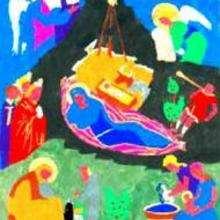 Dessin d'enfant : Nativité (par Laurence)