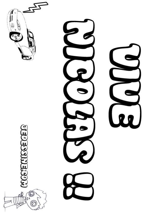Coloriage prenoms lettre n nicolas - Jedessine coloriage ...